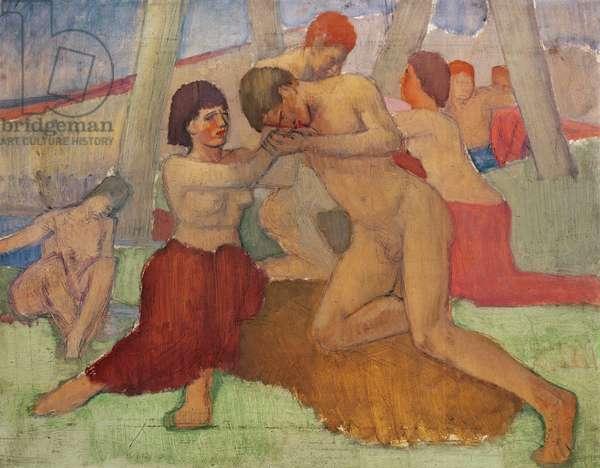 Nude couple (oil)