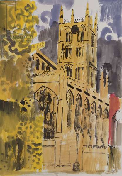 Westminster Abbey (gouache on paper)