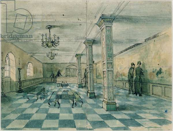 Design for the Tate Gallery Restaurant, 1926-27 (pen & ink with wash on paper)