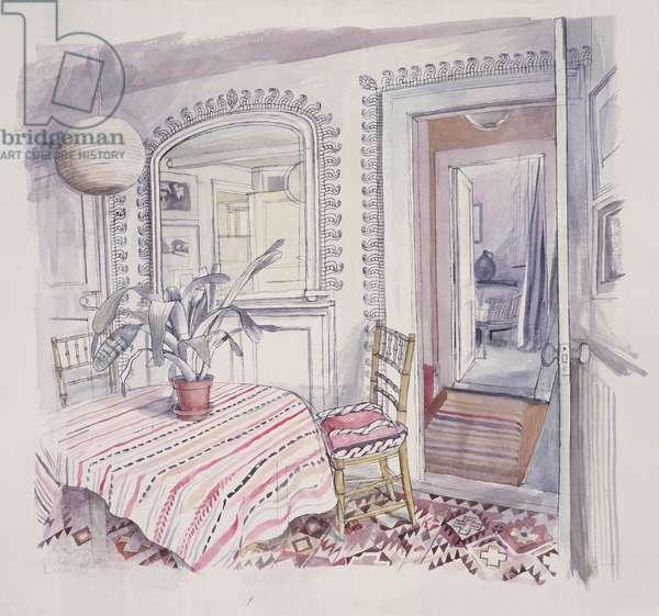 Interior, 1990 (w/c on paper)