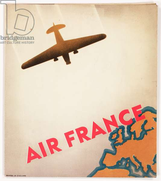 Cover design, Air France brochure