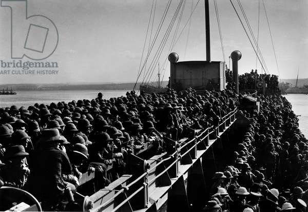 Military men on board ship