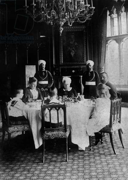 Family meal in Windsor