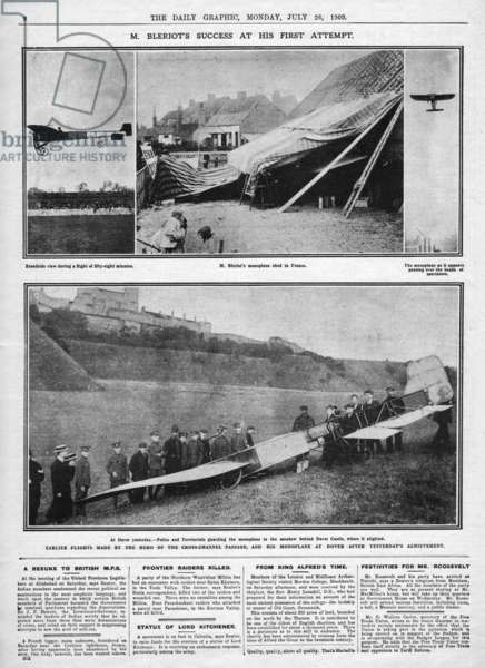 Louis Bleriot, First Cross-Channel Flight
