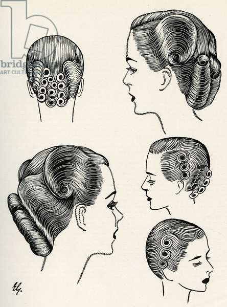 Change of contour hairstyle 1940s