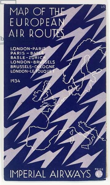 Cover design, Imperial Airways map