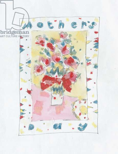 Mothers Day Roses with patterned border