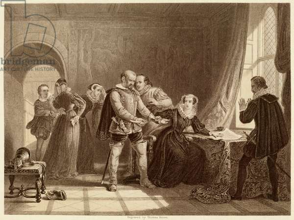 QUEEN OF SCOTS ABDICATES