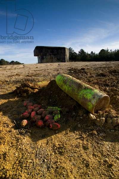 Champagne - German bunker & unexploded ammunition