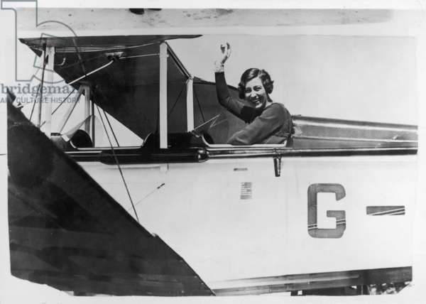 AMY JOHNSON IN HER PLANE