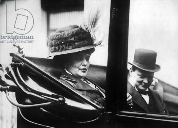 Winston Churchill and his mother