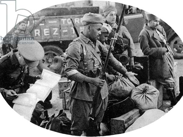 Moroccan Soldier of the Nationalist Army, Spanish Civil War,
