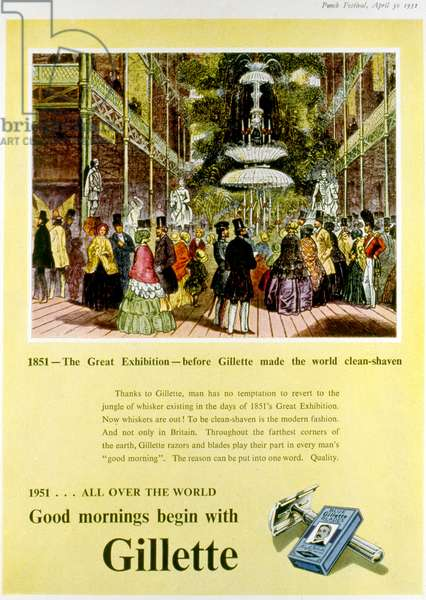 Advertising for Gillette