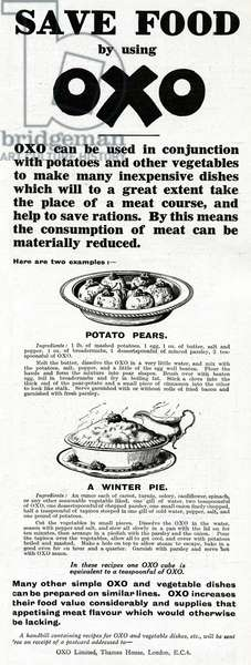 Advert for OXO 1918