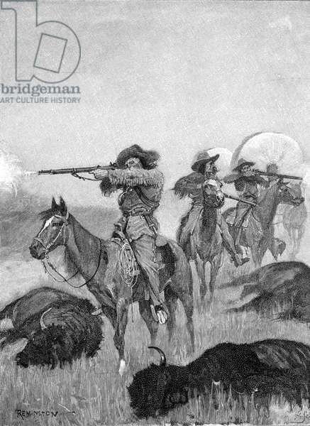 HUNTING/BUFFALO 1890