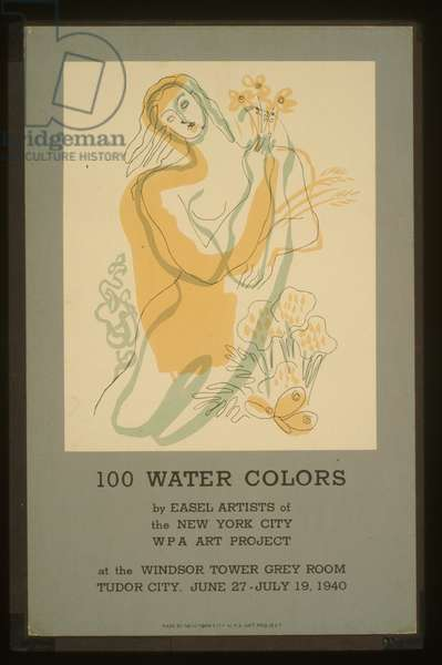 100 water colors by easel artists of the New York City WPA A