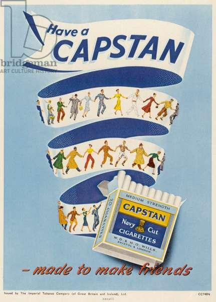 ADVERT/CAPSTAN CIGS 1951