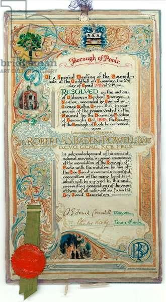 Baden-Powell - Feedom of Poole