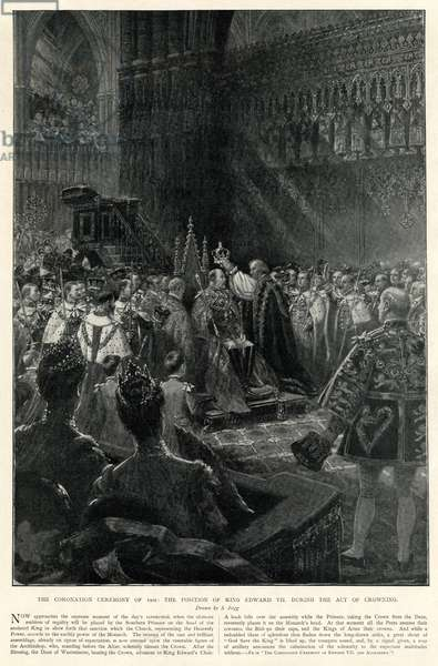 Ceremony of crowning of King Edward VII