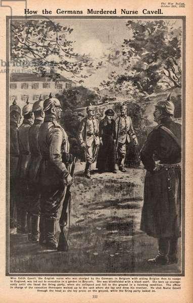 Execution of Nurse Edith Cavell, WW1