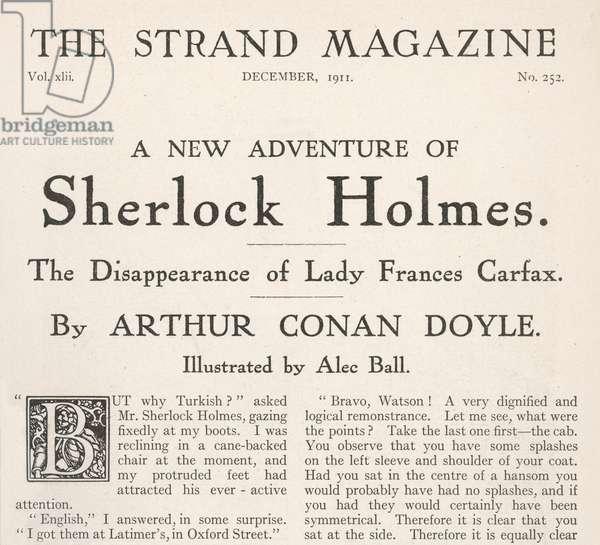 a Disparition de Lady France Carfax (Sherlock Holmes)