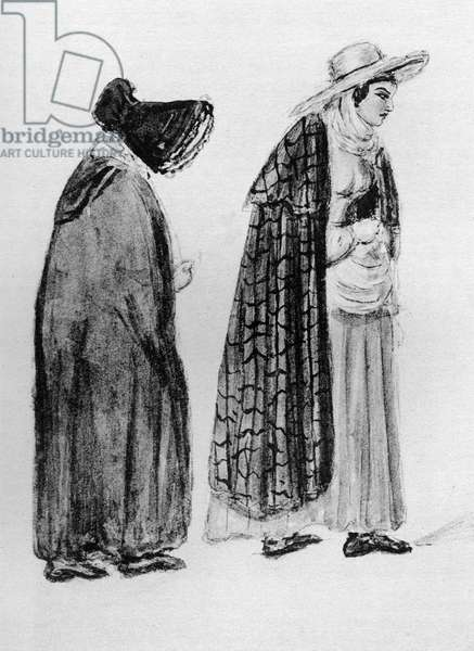 Gipsy women sketched by Queen Victoria