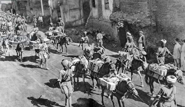 An Anglo-Indian column in Baghdad during World War I