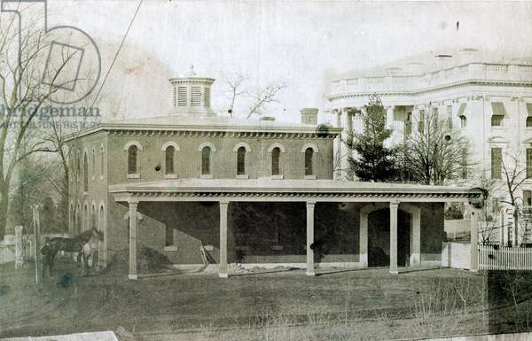President's stables (White House in the background)