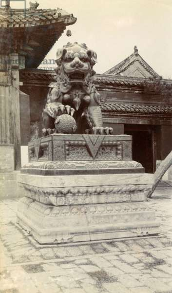 Temple with Chinese dragon