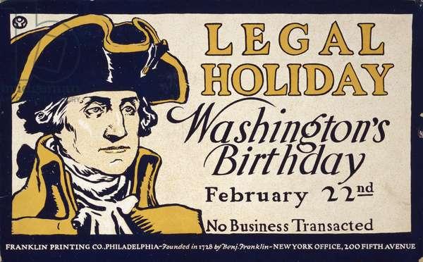 Legal holiday, Washington's birthday, February 22nd, no busi