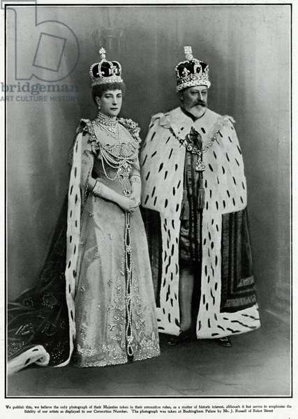 King Edward and Queen Alexandra in coronation robes