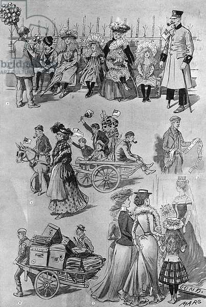 Sketches during the Coronation, 1902