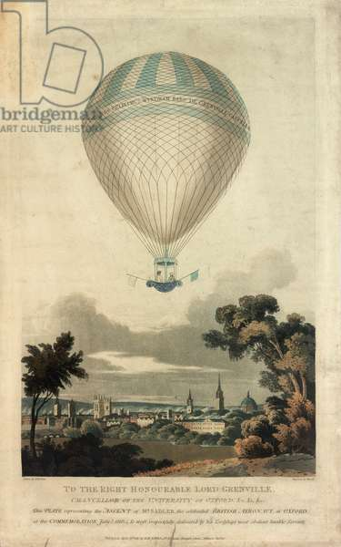 Mr Sadler in balloon over Oxford