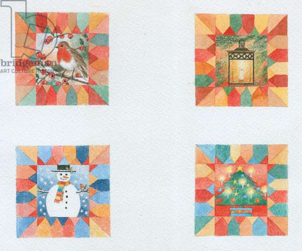 Four Christmas Gift Tags