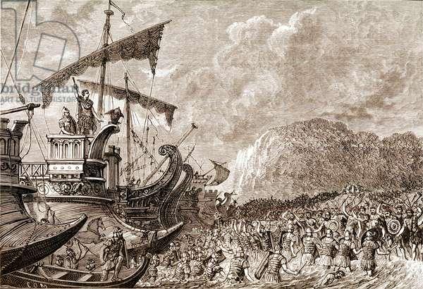 Roman Army Landing in Britain Julius Caesar
