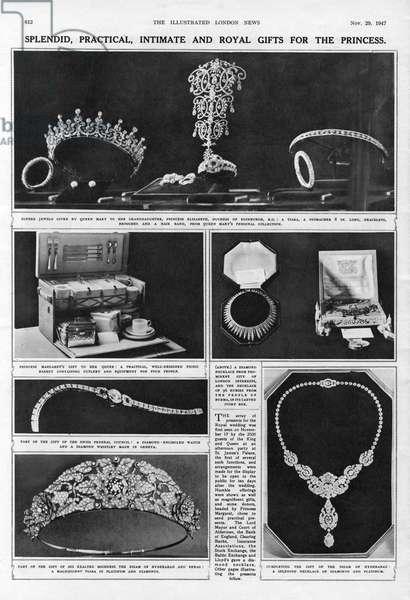 Bridal gifts for Princess Elizabeth