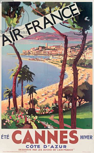 Air France Poster, Cannes
