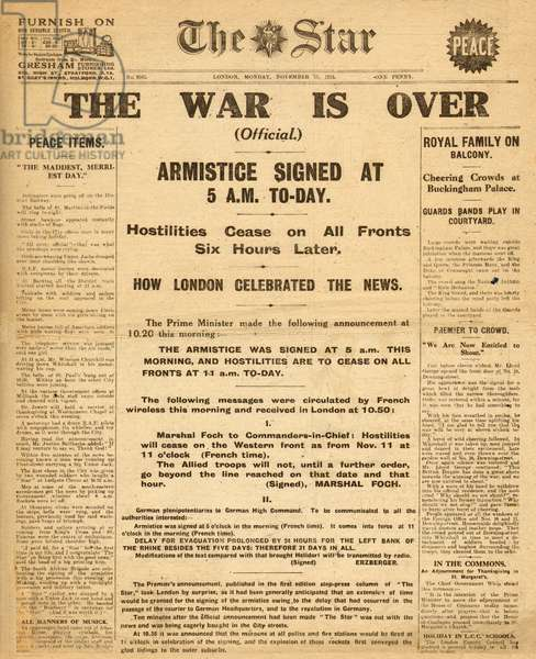 Armistice, End of WW1