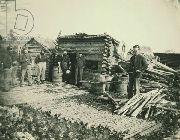 Civil War camp of the 6th NY Artillery at Brandy Station, Vi