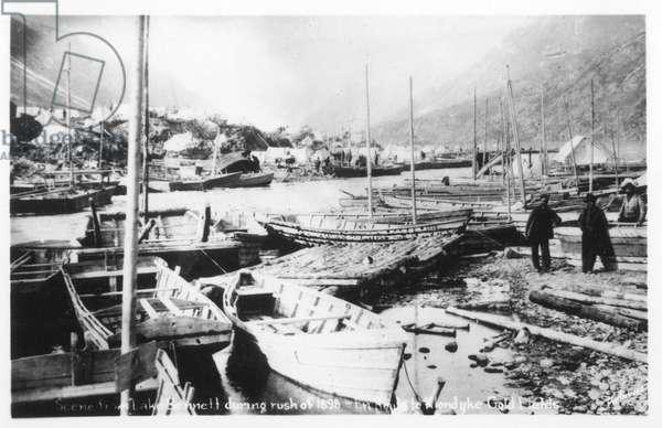 Lake Bennett during Klondike Gold Rush, Canada