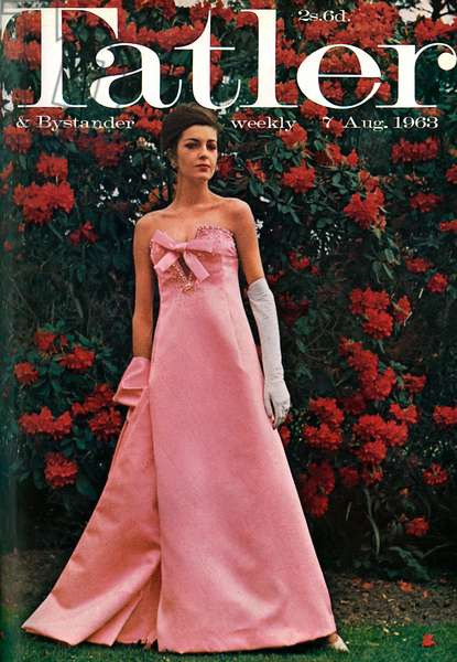 Tatler front cover, 1963 - Christian Dior dress