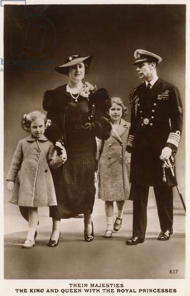 King George VI, Queen Elizabeth and Royal Princesses