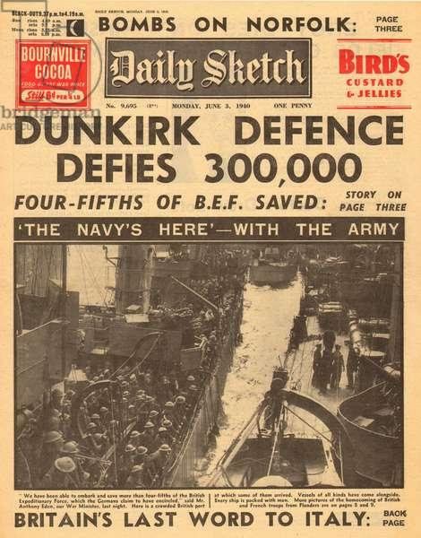 Evacuation of Dunkirk, WW2