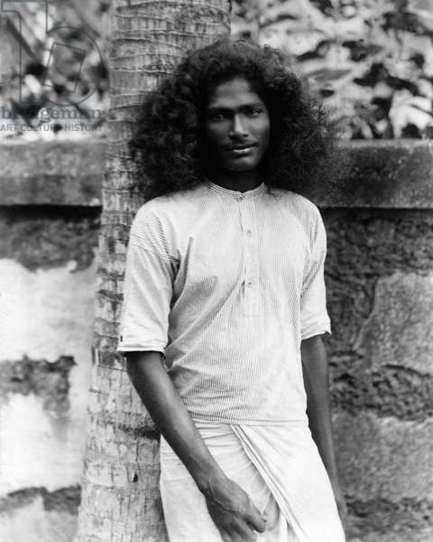 Young man, Ceylon (Sri Lanka)