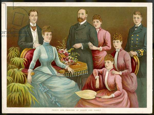 The future Edward VII with the family