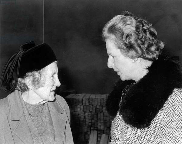 Prime Minister Margaret Thatcher with Dowager Lady St. Levan