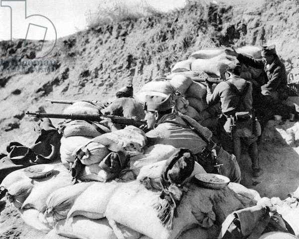 Spanish Foreign Legion Troops near Madrid; Spanish Civil War