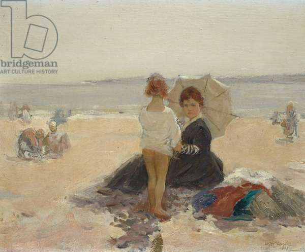 On the Beach Ð woman with a child