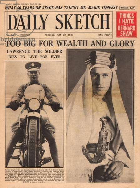 Death of T E Lawrence