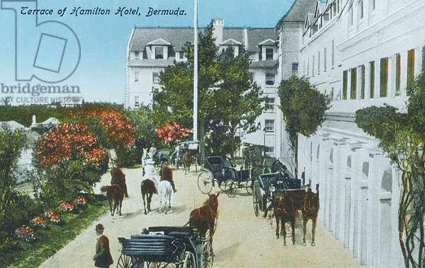 The Terrace of the Hamilton Hotel, Bermuda